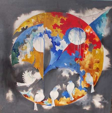 Memories of the childhood v | Painting by artist Shiv Kumar Soni | acrylic | Canvas