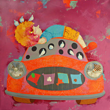contemporary Acrylic Art Painting title 'Childhood Treasure II' by artist Shiv Kumar Soni