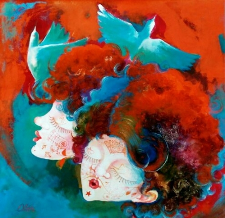 The beauty of childhood | Painting by artist Shiv Kumar Soni | mixed-media | Canvas