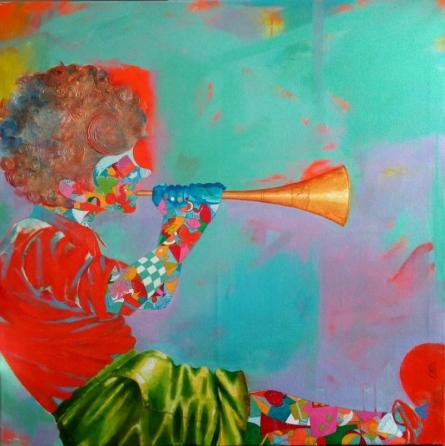 Figurative Mixed-media Art Painting title 'The childhood iii' by artist Shiv Kumar Soni