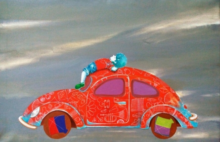 Passion of the childhood iv | Painting by artist Shiv Kumar Soni | acrylic | Canvas