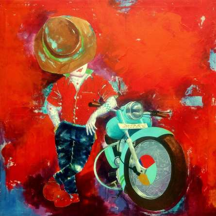 Expressionist Acrylic Art Painting title 'Passion Of The Childhood Xv' by artist Shiv Soni