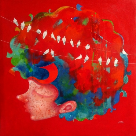 The Childhood Vii | Painting by artist Shiv Soni | acrylic | Canvas