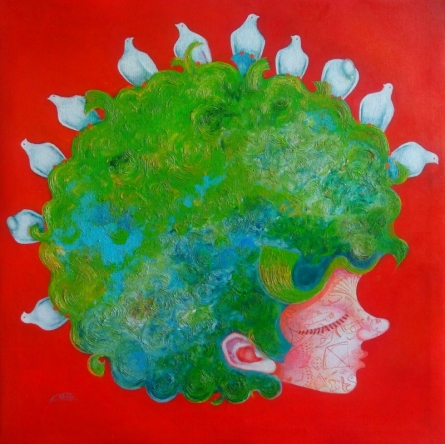The Childhood Viii | Painting by artist Shiv Soni | mixed-media | Canvas