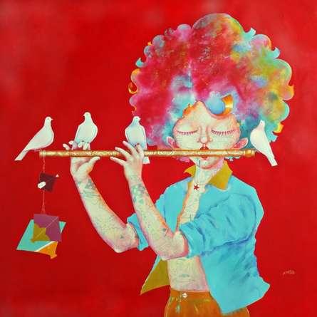 The Childhood xviii | Painting by artist Shiv Kumar Soni | acrylic | canvas
