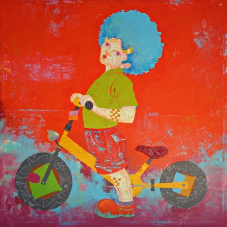 Fantasy Acrylic Art Painting title 'The Childhood Xxiii' by artist Shiv Kumar Soni