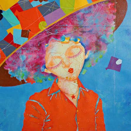 Shiv Kumar Soni Paintings | Acrylic Painting - The Childhood Xxvii by artist Shiv Kumar Soni | ArtZolo.com