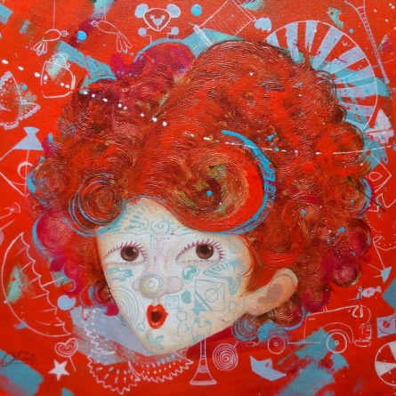 The Innocence Iii | Painting by artist Shiv Soni | acrylic-oil | Canvas