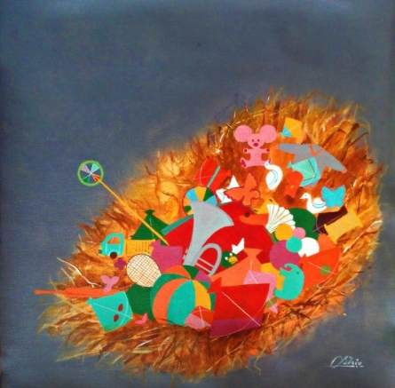 Treasure Of The Childhood Iv | Painting by artist Shiv Soni | acrylic-oil | canvas