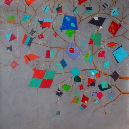 contemporary Acrylic Art Painting title 'Treasure Of The Childhood X' by artist Shiv Soni