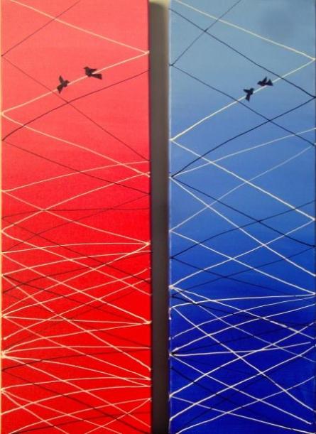 Love Birds   Painting by artist Ratnaja Dikshit   acrylic   Canvas