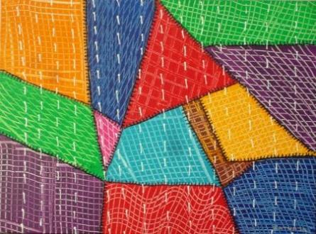 Quilt | Painting by artist Ratnaja Dikshit | acrylic | Canvas