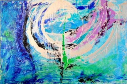 Whirlpool | Painting by artist Ratnaja Dikshit | acrylic | Canvas