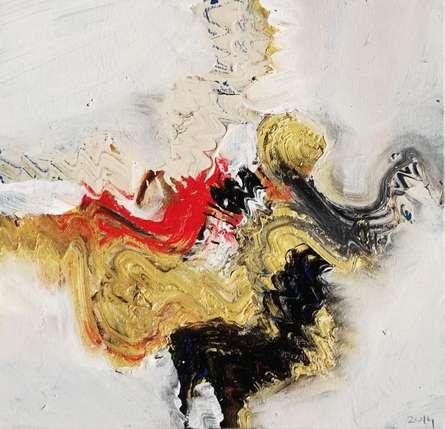 Abstract Acrylic Art Painting title Beige Nature I by artist Deepak Guddadakeri