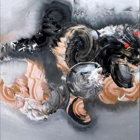 Black And Beige Abstarct | Painting by artist Deepak Guddadakeri | acrylic | Paper
