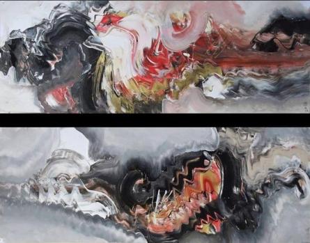 Shakti | Painting by artist Deepak Guddadakeri | acrylic | Paper
