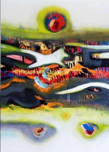 Deepak Guddadakeri Paintings | Acrylic Painting - The Third Eye by artist Deepak Guddadakeri | ArtZolo.com