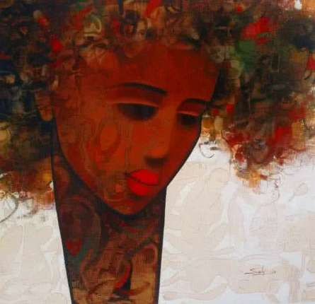 Figurative Acrylic Art Painting title 'Emotion Of Life 7' by artist Mukesh Salvi