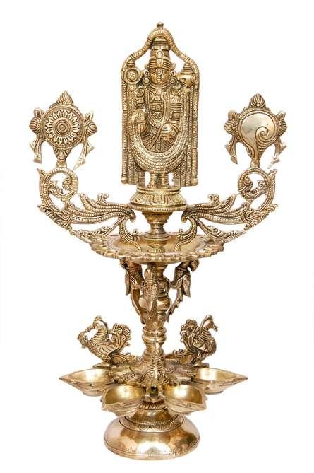 Brass Art | Balaji Lamp Craft Craft by artist Brass Art | Indian Handicraft | ArtZolo.com