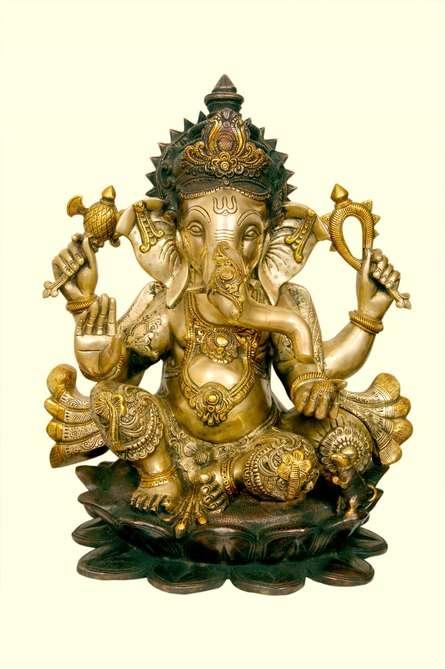 Brass Art | Brass Ganesha II Craft Craft by artist Brass Art | Indian Handicraft | ArtZolo.com