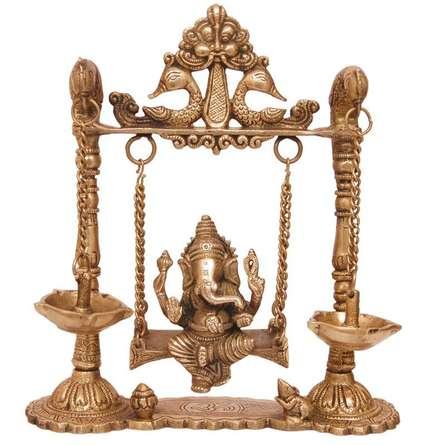 Brass Art | Brass Ganesh Jhula I Craft Craft by artist Brass Art | Indian Handicraft | ArtZolo.com