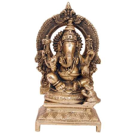 Brass Art | Brass Ganesha Craft Craft by artist Brass Art | Indian Handicraft | ArtZolo.com