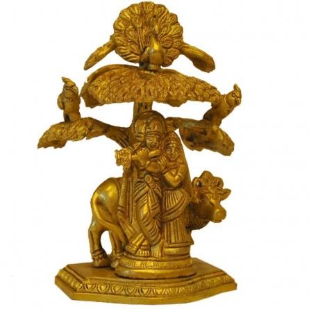Brass Art | Brass Radha Krishna Craft Craft by artist Brass Art | Indian Handicraft | ArtZolo.com