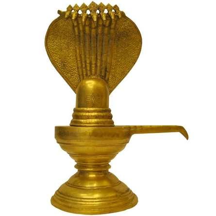 Brass Shivlinga   Craft by artist Brass Art   Brass