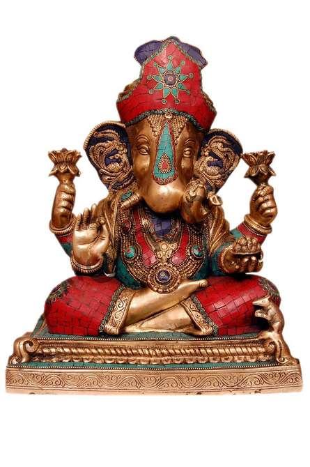 Brass Art | Ganesha Wearing Pagdi Craft Craft by artist Brass Art | Indian Handicraft | ArtZolo.com