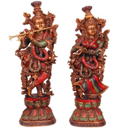 Brass Art | Radha Krishna I Craft Craft by artist Brass Art | Indian Handicraft | ArtZolo.com