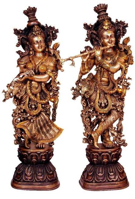 Radha Krishna II | Craft by artist Brass Art | Brass