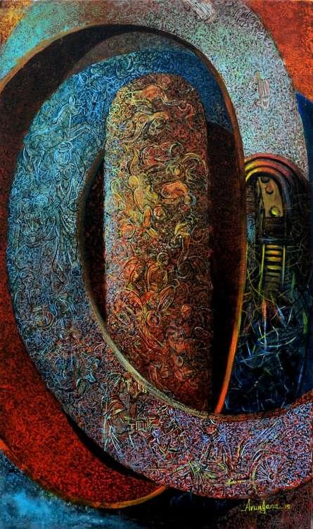 Kolkata 1 | Painting by artist Arun  Jana | acrylic | Canvas