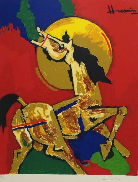 Horse | Painting by artist M F husain | serigraphs | serigraph