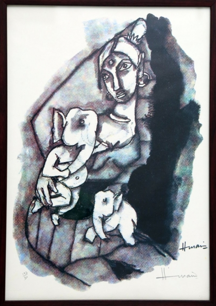 Parvati and Ganesha(Ashtavinayak Series) | Painting by artist M F husain | other | serigraph