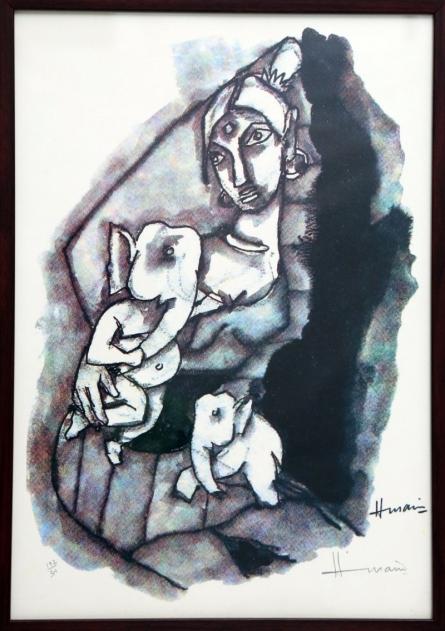 Parvati and Ganesha(Ashtavinayak Series) | Painting by artist M F husain | other | serigraph