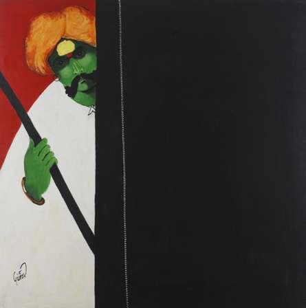 Figurative Acrylic Art Painting title 'Kambal' by artist RAOSAHEB GURAV