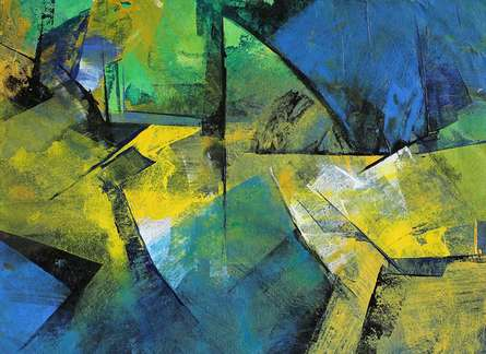 Abstract Acrylic Art Painting title 'Connect' by artist Siddhesh Rane