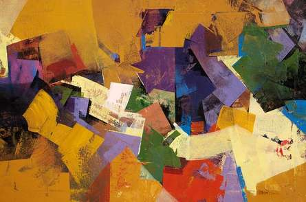 Abstract Acrylic Art Painting title Conversation Abstract by artist Siddhesh Rane