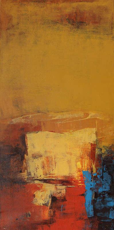 Abstract Acrylic Art Painting title 'Horizon' by artist Siddhesh Rane