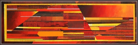 Abstract Acrylic Art Painting title Horizontal Abstract by artist Siddhesh Rane