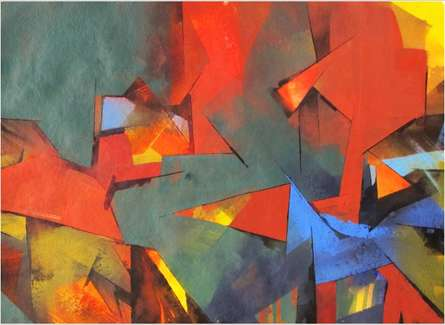 Illusion | Painting by artist Siddhesh Rane | acrylic | Paper