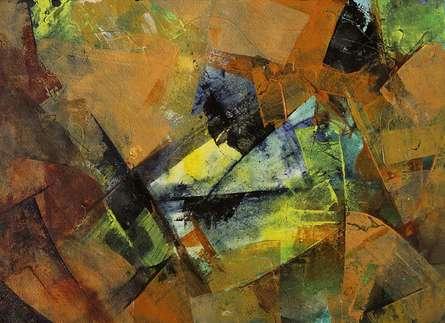 Abstract Acrylic Art Painting title Illusion II by artist Siddhesh Rane