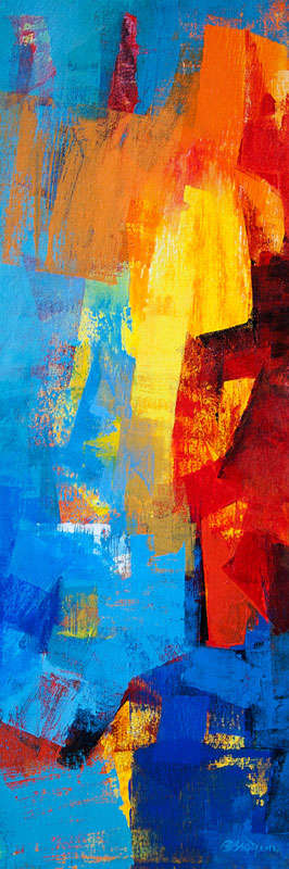 Multi Blue Vertical Abstract | Painting by artist Siddhesh Rane | acrylic | Canvas