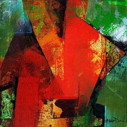 Abstract Acrylic Art Painting title 'The Arrow' by artist Siddhesh Rane