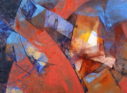 Abstract Acrylic Art Painting title The First Light by artist Siddhesh Rane