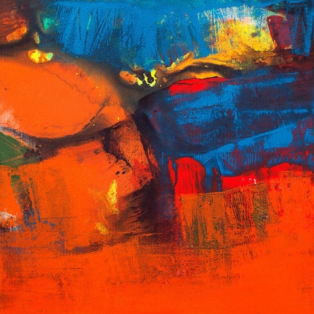 Abstract Acrylic Art Painting title Untitled 108 by artist Siddhesh Rane