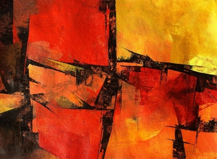 Abstract Acrylic Art Painting title 'Untitled 110' by artist Siddhesh Rane