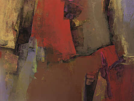 Abstract Acrylic Art Painting title Untitled 115 by artist Siddhesh Rane
