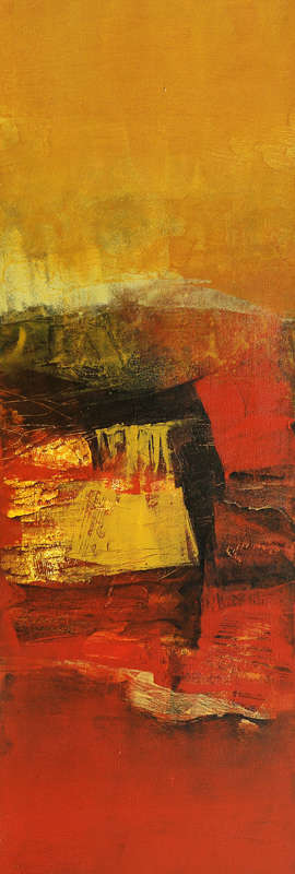 Abstract Acrylic Art Painting title Vertical Composition I by artist Siddhesh Rane