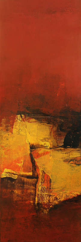 Abstract Acrylic Art Painting title Vertical Composition III by artist Siddhesh Rane
